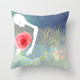 Dear rose Throw Pillow