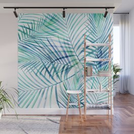 Tropical Palm Pattern Wall Mural