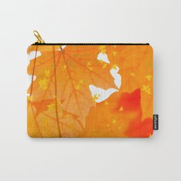 Fall Orange Maple Leaves On A White Background #decor #buyart #society6 Carry-All Pouch