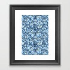 View From a Blue Window Framed Art Print
