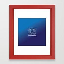 The Shape of Water Framed Art Print