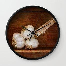 Bunch of garlic heads Wall Clock