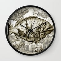 fish Wall Clocks featuring fish by Кaterina Кalinich