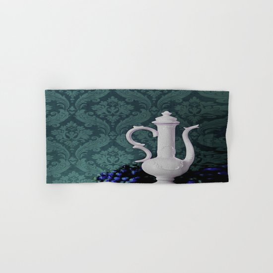 Decanter and Grapes Hand & Bath Towel