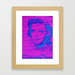 Judy and the Music Framed Art Print