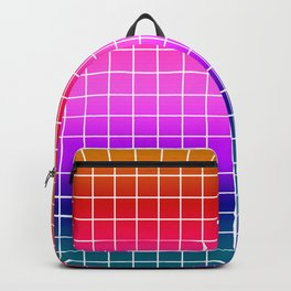 2Rainbow plaid #Ombre #gradient Backpack