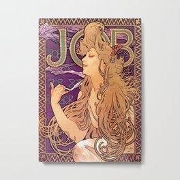 "Alphonse Mucha, "" JOB "" Metal Print"