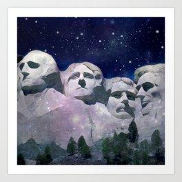 Rushmore Art Print