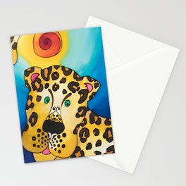 A Leopard named Louis Stationery Cards
