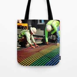 Laying It On The Line Tote Bag