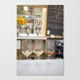 Wine Time in Santa Barbara, California Canvas Print