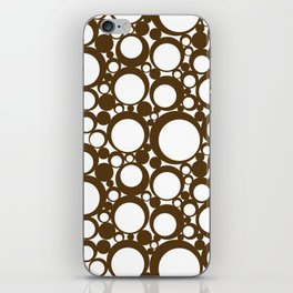 Brown Geometric Abstract Modern Circle Art iPhone Skin