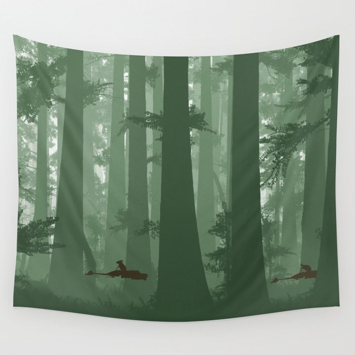 The Battle of Endor - The Tortoise & the Hare Wall Tapestry