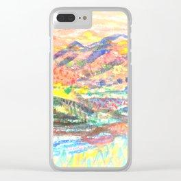 blurred Clear iPhone Case