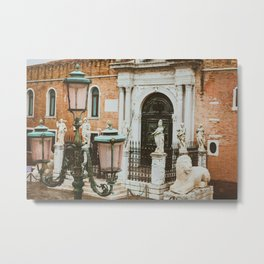 Lamppost by the Arsenale Metal Print