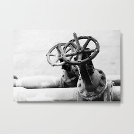 Pipeline valves Metal Print