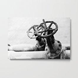 Pipeline valves Metal Print