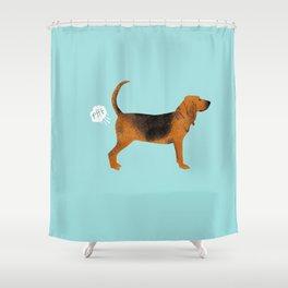 Bloodhound dog breed funny dog fart Shower Curtain