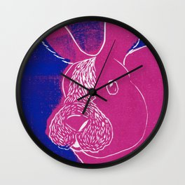 Betty Bunny Wall Clock