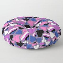 GenderFluid Pride Hearts Floor Pillow
