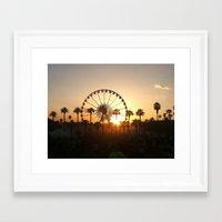 coachella Framed Art Prints featuring Coachella Sunset by Lauren Haney