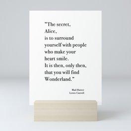The Secret Quote, Alice In Wonderland Mini Art Print