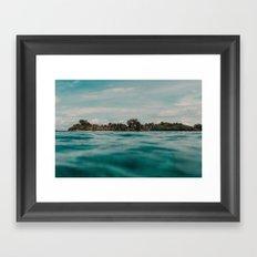 Shipwrecked Ocean Blues Framed Art Print
