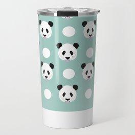 Panda polka dots pattern print minimal trendy kids design pillow cell phone cute panda cub character Travel Mug