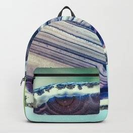 Blue purple geode Backpack