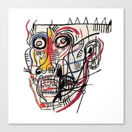 Basquiat Crazy Head Canvas Print