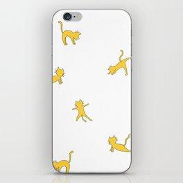Yellow cats doing yoga ! iPhone Skin