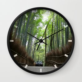 Arashiyama Bamboo Forest Kyoto Japan Wall Clock
