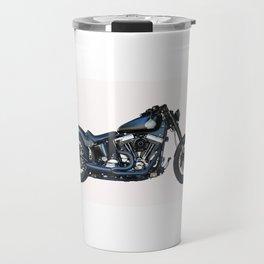 black motorcycle isolated Travel Mug