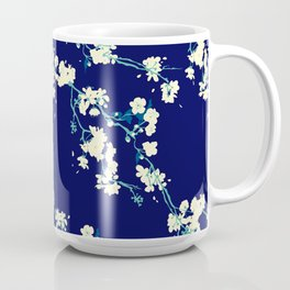 Cherry blossoms in Navy Coffee Mug