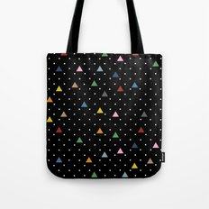 Pin Point Triangles Black Tote Bag