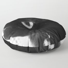 Black Cat Floor Pillow