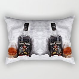 Ice Cold Captain Morgan Rum Rectangular Pillow