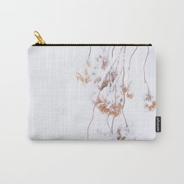 Snowy Hydrangea On A Snow Background #decor #society6 Carry-All Pouch