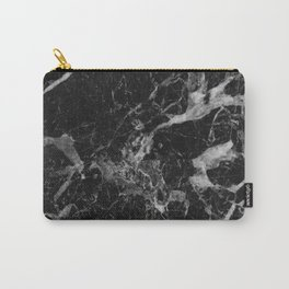 Black and Gray Marble Pattern Carry-All Pouch