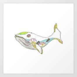 Spring Whale Art Print