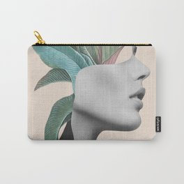 Floral Portrait /collage Carry-All Pouch