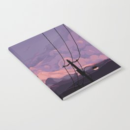 Mt Rainier with Powerlines Notebook
