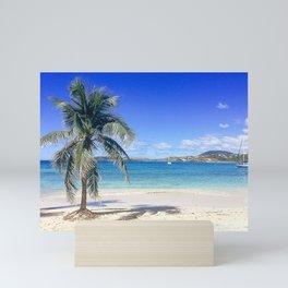 Caribbean Palm Tree Beach Secret Harbor Mini Art Print