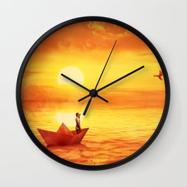 wrecked Wall Clock