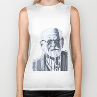 freud Biker Tanks featuring Sigmund Freud by Sobottastudies