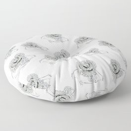 Silver Rose Ring Floor Pillow