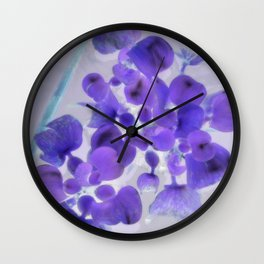 Flower | Flowers | Purple Water Plant Wall Clock
