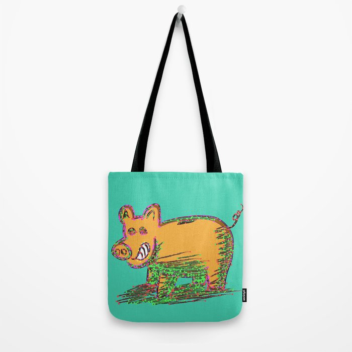 Pig Vector Selection Tote Bag