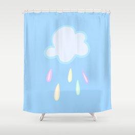 Pastel Rainbow Rain Cloud Shower Curtain