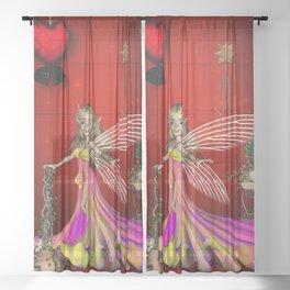 Cute little fairy Sheer Curtain